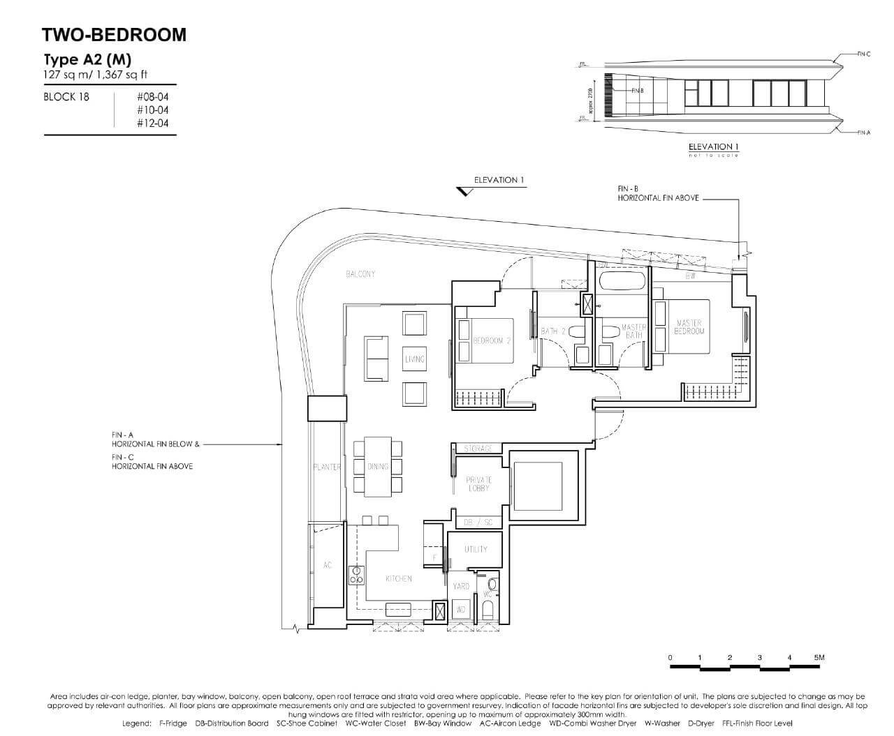 New Futura - Floor Plans - 2 Bedroom - Type A2