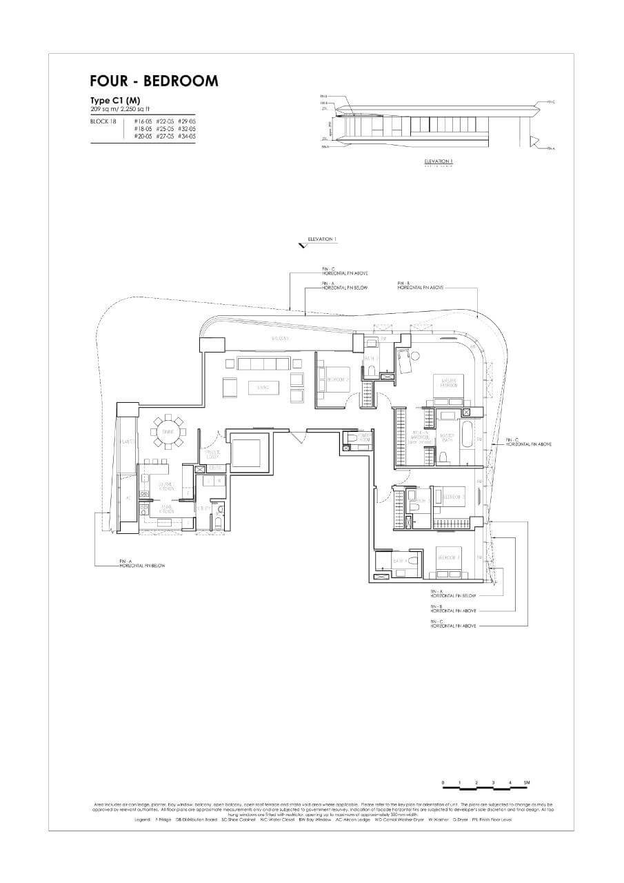 New Futura - Floor Plans - 4 Bedroom - Type C1