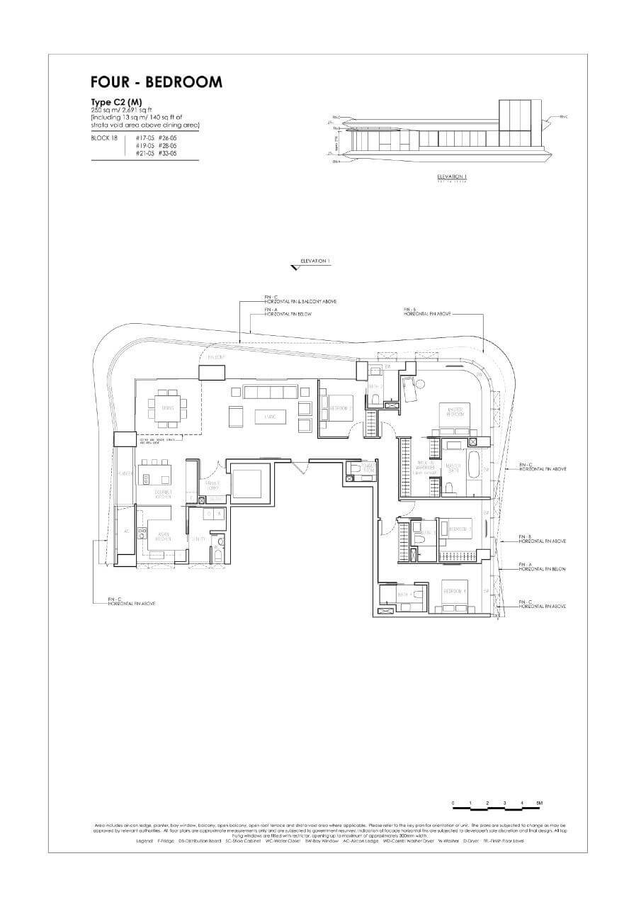 New Futura - Floor Plans - 4 Bedroom - Type C2