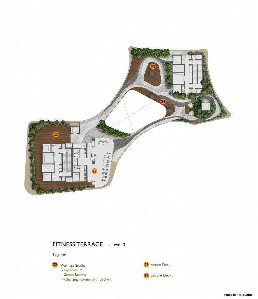 New Futura - Site Plan - Level 3 - Fitness Terrace
