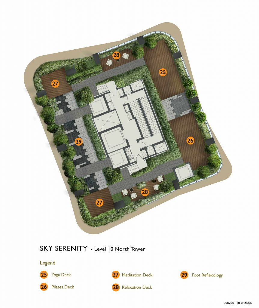 New Futura - Site Plan - North Tower Level 10 - Sky Serenity
