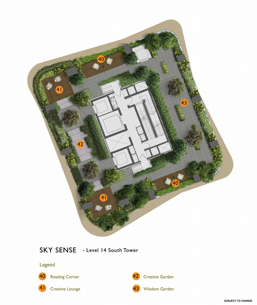 New Futura - Site Plan - South Tower Level 14 - Sky Sense