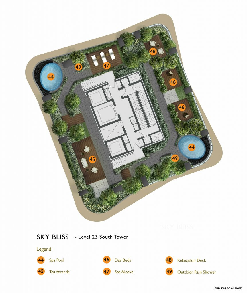 New Futura - Site Plan - South Tower Level 23 - Sky Bliss