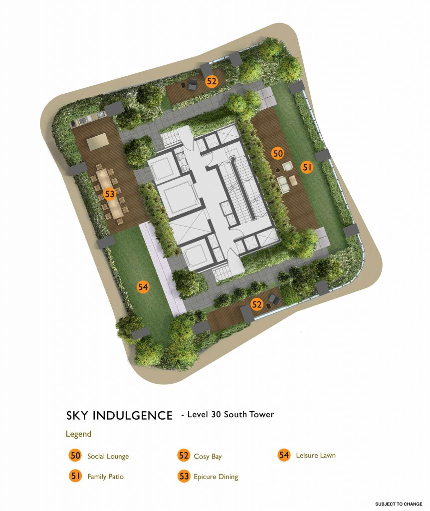 New Futura - Site Plan - South Tower Level 30 - Sky Indulgence